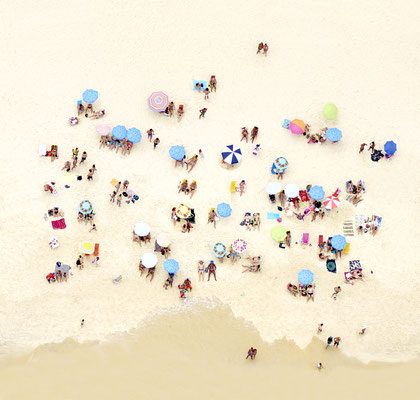 "Joshua Jensen-Nagle, ""Sunbathers of Copacabana III,"" archival inkjet print face-mounted to Plexiglass, 41 x 43"" (also available: 30 x 31.5, 55 x 58, 70 x 73)"
