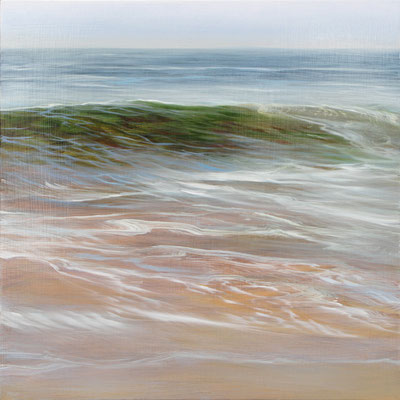 """Teri Malo, """"Another Nauset Wave,"""" 2012, oil on panel, 12 x 12 inches, $1,500"""