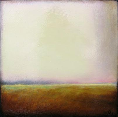 """Margaret Gerding, """"Ocean Mist I,"""" 2016, oil on panel, 16 x 16 inches, $2,500"""