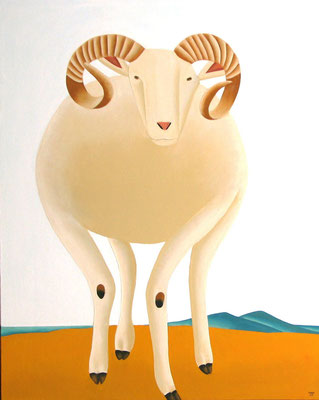 "Jain Tarnower, ""Wiltshire Sheep"" oil on canvas on panel, 45 x 36 inches, SOLD"