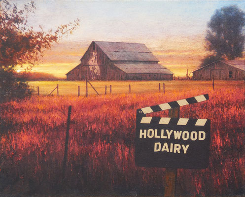 "Ben Steele, ""Hollywood Dairy,"" 2015, oil on canvas, 16 x 20 inches, $2,400"