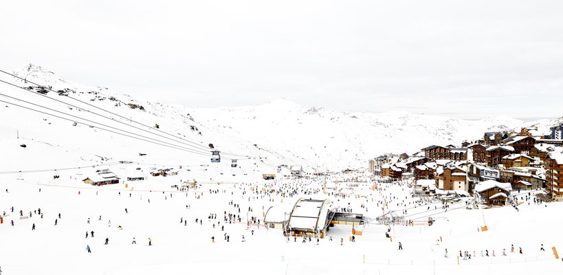 """Joshua Jensen-Nagle, """"Gazing into it All (Val Thorens),"""" archival inkjet print face-mounted to Plexiglass, available in: 23x48"""", 32x66"""", 43x88"""", 56x115"""""""