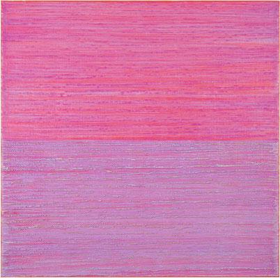 "Joanne Mattera, ""Silk Road 428,"" 2018, encaustic on panel, 18 x 18 inches, $4,000"