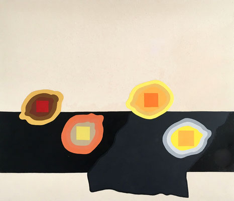 """Stephen D'Onofrio, """"Still Life with Joseph Albers Lemons,"""" 2018, oil on canvas, 26 x 35 inches"""