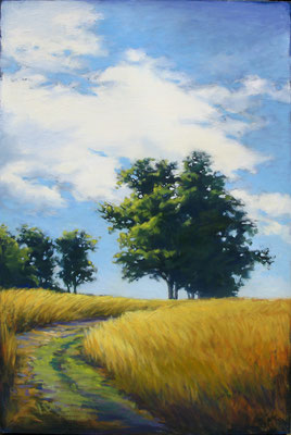 "Margaret Gerding, ""Summer Path,"" 2015, oil on panel, 36 x 24 inches, $5,000"