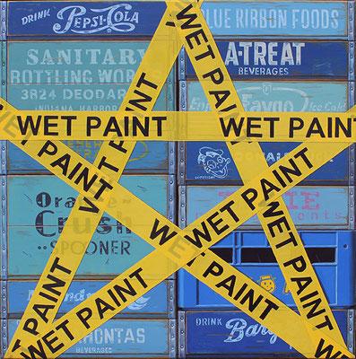 "Robert C. Jackson, ""Star,"" oil on linen, 36 x 36 inches, $18,000"