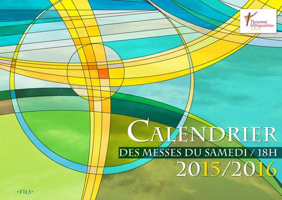 Agendas réalisés pour les messes du samedi (Notre-Dame des 7 Clochers - Diocèse Angoulême)
