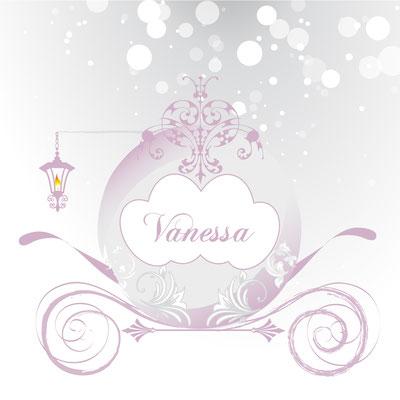 Création d'un faire-part de naissance - Thème : Princesse et carrosse - Naissance fille
