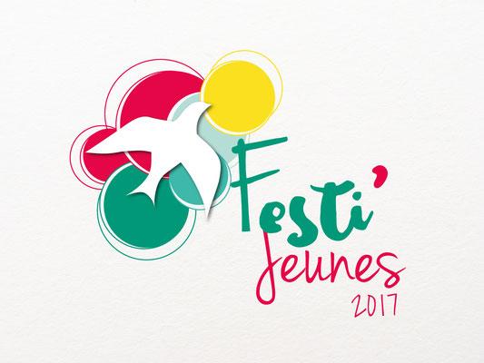Réalisation d'un logo pour un festival - Festi'jeunes 2017 - Diocèse d'Angoulême
