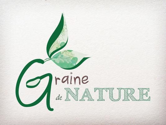 Réalisation d'un logo pour une entreprise paysagiste - Graine de Nature