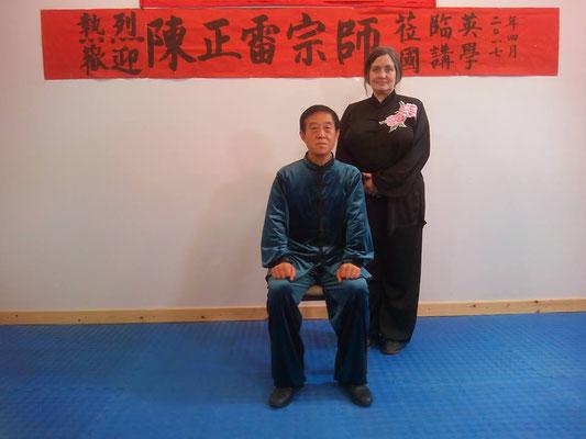 mit Großmeister Chen Zhenglei, Ostern 2017