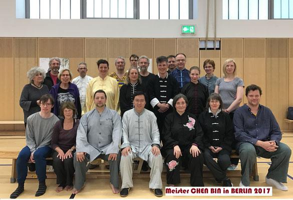 Gruppenforto Berlin 2017 mit Meister Chen Bin