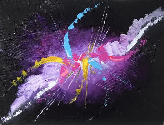 tole peinte abstraite