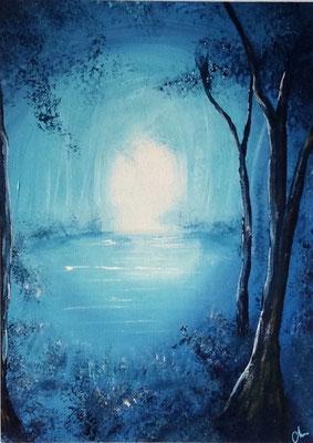 peinture acrylique paysage 30 X 40
