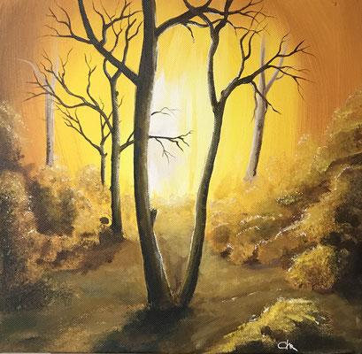 tableau paysage sous bois