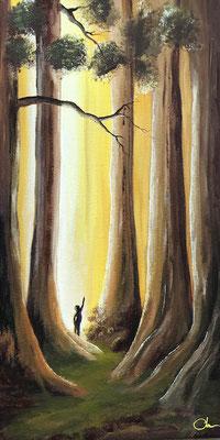 peinture grand arbre