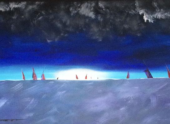 peinture abstraite bleu - PLUS DISPONIBLE