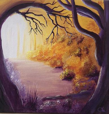 peinture beaux arbres