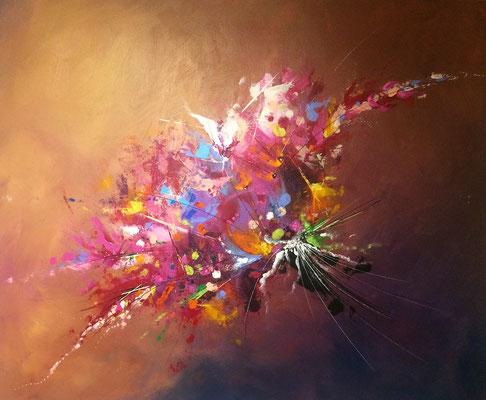 bouquet peint acrylique