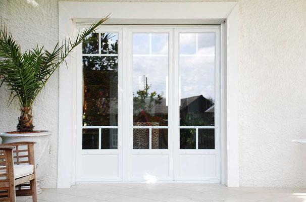 PF2 plus fixe PVC blanc, LAUVIE Menuiserie, petit bois intra-vitrage