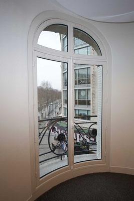 Fenêtre Bois OF2 cintré plus imposte cintré vitrage isophonique