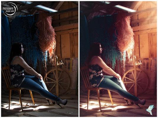 Vorher-Nachher (Model: Jacqueline, Fotograf: Photography Dominik Lauter, Bearbeitung: Céline Claire Stöger)