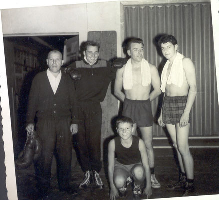v.l. Philipp Sommer,sen., Rolf Eichenauer,Horst Mitschele,Helmut Baur,kniend K.Schumacher