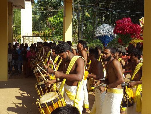 Tempelfest Varkala Kerala