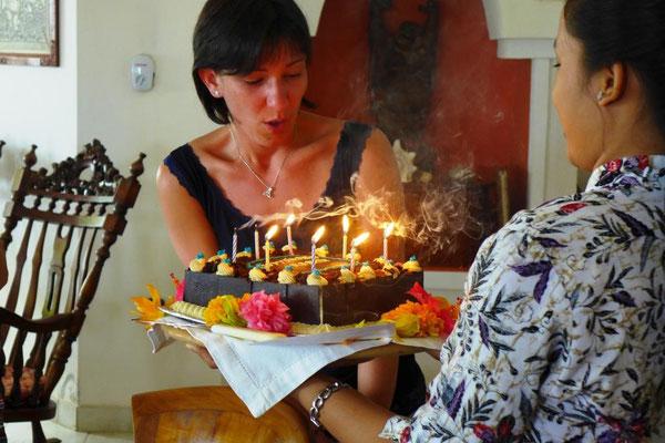 Geburtstagsfeier einer Teilnehmerin