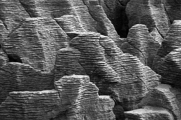 Schwarz-Weiß-Fotoprojekt by Thomas Heck, Grafikdesigner, Karlsruhe – Pancake-Rocks New Zealand