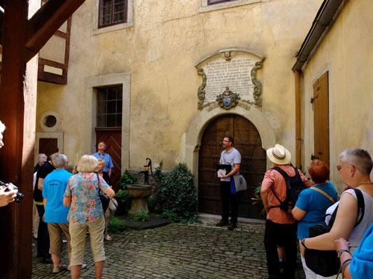"""Im Innenhof des barocken Handelshauses """"zur Groeh"""""""
