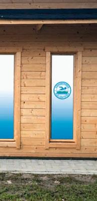 Die Folierung der Hütten-Fenster