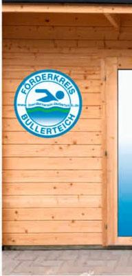 Das geplante Logo neben der Hütten-Tür