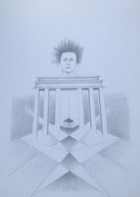"""""""Sturm über dem Tor"""", 2018, Zeichnung, 70 x 50 cm (#937)"""