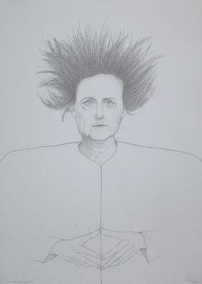 """""""Sturm über der Raute II"""", 2018, Zeichnung, 70 x 50 cm (#939)"""