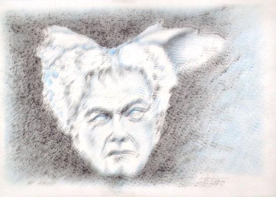 """""""Hypnos"""" (Peter Conradi), 2016, Zeichnung, 21 x 30 cm (#825)"""