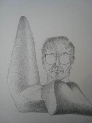 Gertrud Angelika Wetzel. Gertrud Angelika Wetzel, Zeichnung, Höhe x Breite: 20 x 17 cm, 2005.  (#420)