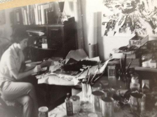 Arbeitschaos in der ersten eigenen Wohnung in Hamburg, 1961