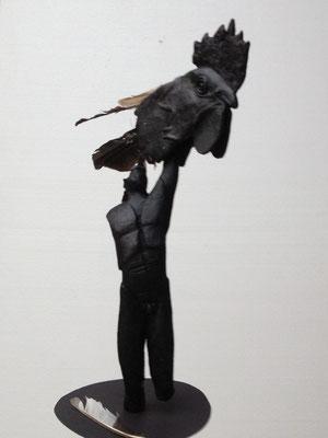 Vogelfrei, Hommage à Günter Grass, 2016, Wachsmodell, Höhe 56 cm (#810)