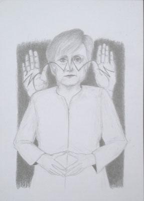 """""""Die Macht ist eine magische Raute II"""", 2018, Zeichnung, 40 x 30 cm (#934)"""