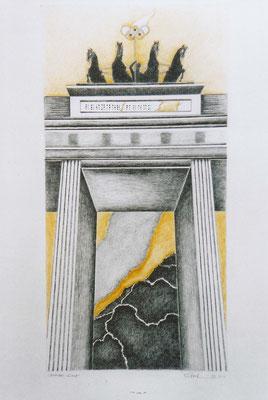 Brandenburger Torheiten: Blindes Gold, Zeichnung, 70 x 50 cm, 2004. (376)