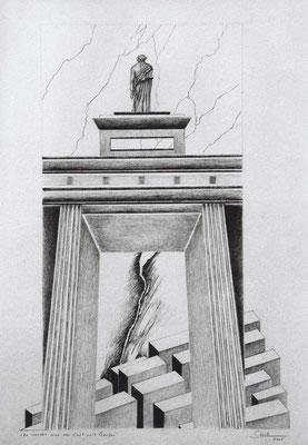 """Brandenburger Torheiten: """"Da wendet sich der Gast mit Grausen"""", Zeichnung, 70 x 50 cm, 2005. (379)"""