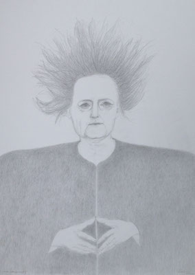 """""""Sturm über der Raute I"""", 2018, Zeichnung, 70 x 50 cm (#938)"""