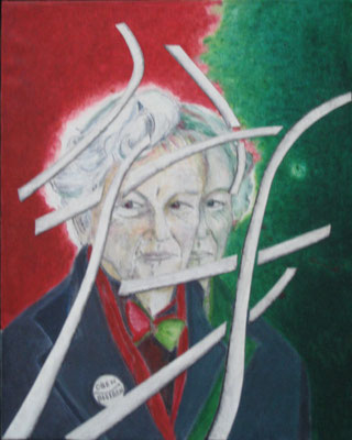 Oben bleiben (Peter Conradi), 2013, Öl auf Leinwand, 50 x 40 cm (#523)
