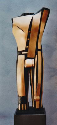 """""""Torso"""", 2002,  Bronze patiniert + geschliffen, 128 x 51 x 26 cm (#450)"""