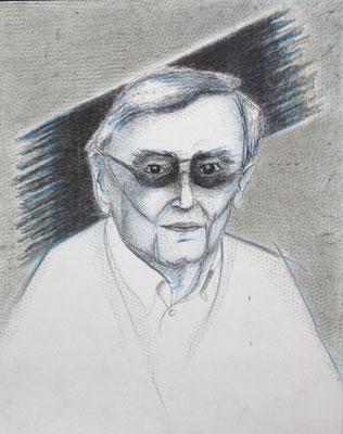 Eberhard Bäumer, Trauerflor, 2016, Mischtechnik, 30 x 25,5 cm (#802)