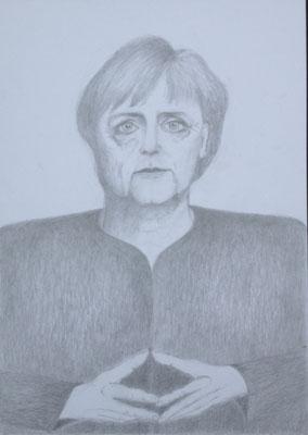 """""""Die Macht ist eine Raute"""", 2018, Zeichnung, 40 x 30 cm (#936)"""