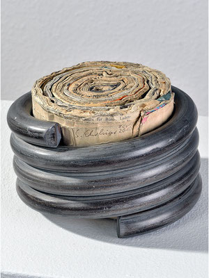 Stahl und Papier 3 |  11x17x17 cm