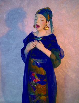 singende Frau-3, H.38cm  2009