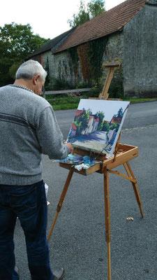 Yves Lallemand a peint la rue des Pyrénées